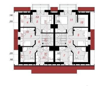 Проект  Дом в цикламенах 2 (Р2), 184.2 м2