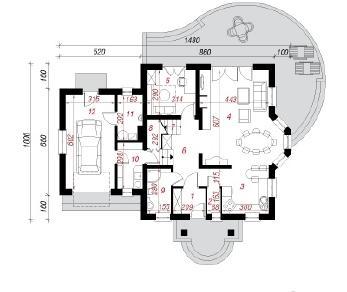 Проект  Дом в тамарисках 7, 167 м2