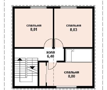 Проект дома AS-2018, 63 м2