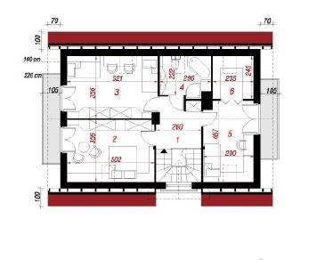 Проект  Дом в самшитах, 117.9 м2