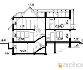 Проект  Дом на пригорке 2(П), 196.3 м2