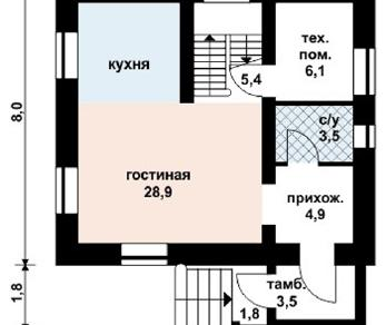 Проект дома AS-2096, 144 м2