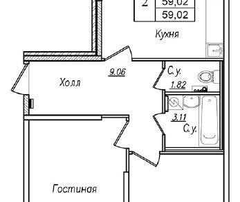 Продажа квартиры Колпин г., Загородная ул. к. 4 Уч. 46