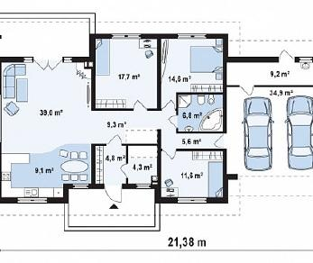 Проект дома Проект Z35, 166.8 м2