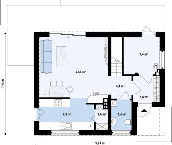 Проект дома Проект z229, 109.6 м2