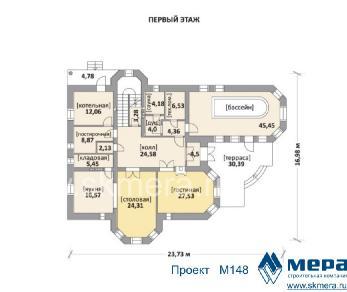 Проект дома M148, 356 м2