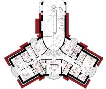 Проект  Резиденция в Бресте, 886.9 м2