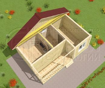 Проект бани Баня. Проект №3, 24 м2