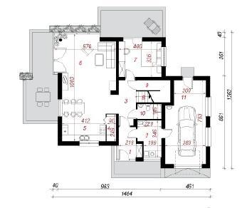 Проект  Дом в куркуме 2, 196 м2