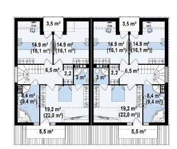 Проект дома Проект Zb4, 158.2 м2