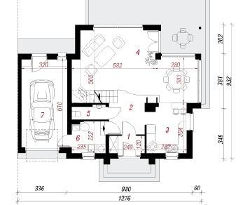 Проект  Дом а альпиниях, 148.9 м2
