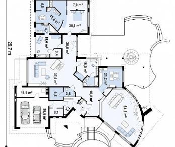Проект дома Проект Zr1, 509.4 м2