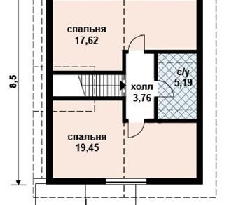 Проект дома AS-2022, 98 м2