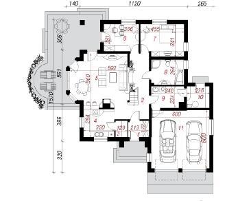 Проект  Дом в маракуйи (Г2), 218.4 м2
