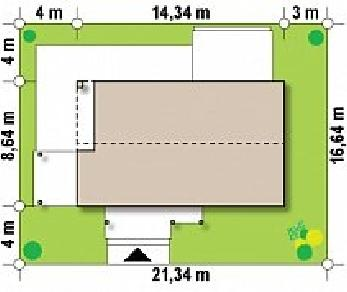 Проект дома Проект Z258, 95.9 м2