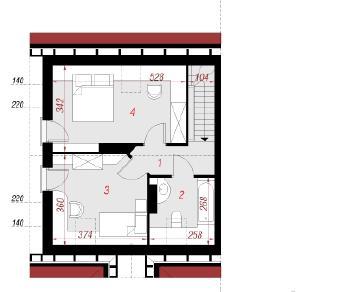 Проект  Дом в бруснике (Б), 68.8 м2