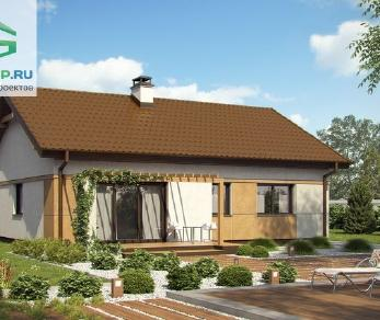 Проект дома Проект z253, 77.5 м2