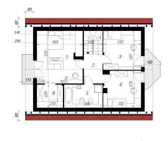 Проект  Дом в скальниках 3, 136.7 м2