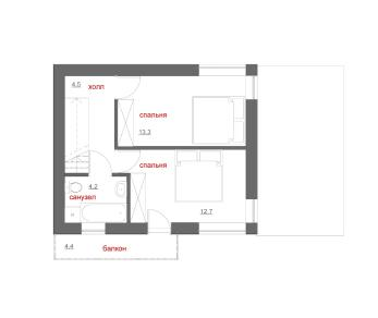 Проект дома Гавр, 71.1 м2