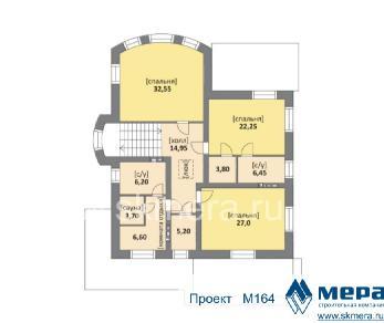 Проект дома M164, 303 м2