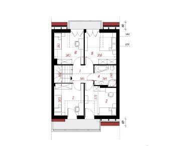 Проект  Дом в клематисах 8 (С), 120.7 м2
