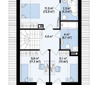 Проект дома Проект z177, 102.7 м2