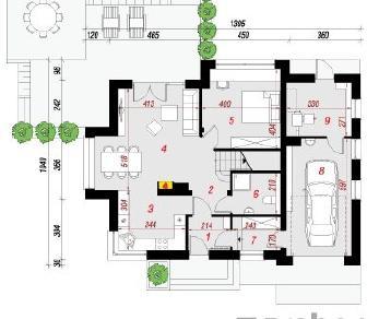 Проект  Дом в рододендронах 8 (Н), 171.59 м2