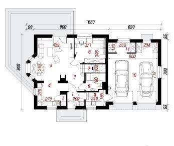 Проект  Дом в рододендронах 6 (Г2), 182.5 м2