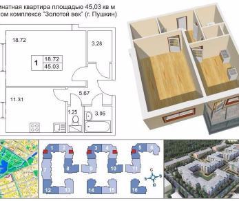 Продажа квартиры Пушкин, Колокольный пер., д.5