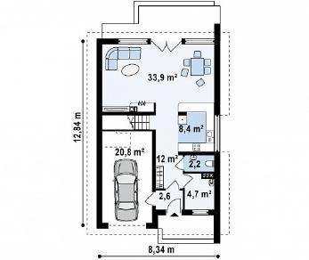 Проект дома Проект Z154, 164.7 м2