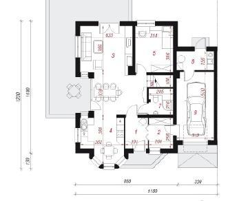 Проект  Дом под фисташковым деревом 2Б, 170.1 м2