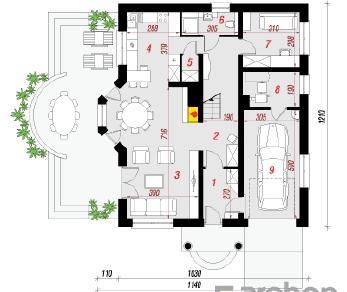 Проект  Дом в тимьяне 7, 165.7 м2
