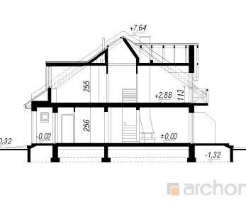 Проект  Дом в клематисах, 116.9 м2