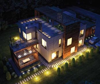 Проект  Проект хайтек, 422 м2