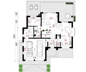 Проект  Дом в каллатеях 2, 200 м2