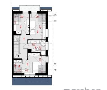 Проект  Дом под гинко ( ГБ), 113.81 м2