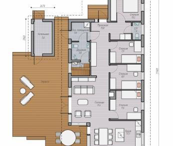 Проект  Проект деревянного дома Alm 107, 186 м2