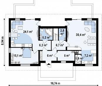 Проект дома Проект Z247, 233 м2