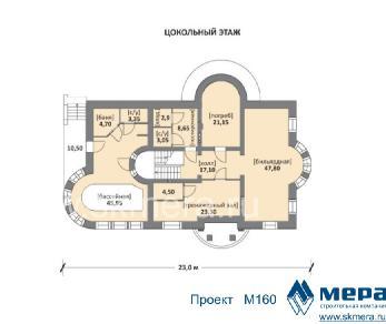 Проект дома M160, 443 м2