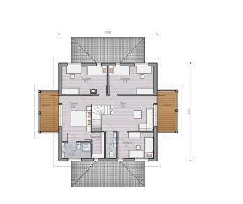 Проект  Проект деревянного коттеджа Alder 175, 254 м2