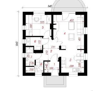 Проект  Дом в землянике 3, 93.5 м2