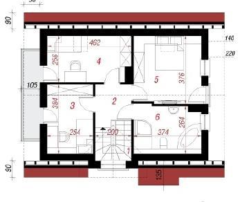 Проект  Дом в солодках 4, 93.2 м2