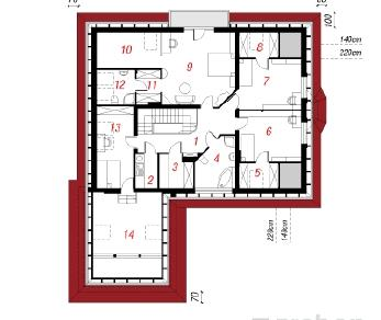 Проект  Дом под черемухой, 276.3 м2