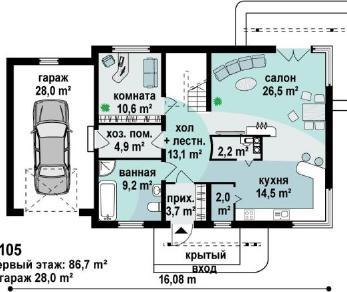 Проект дома Проект z105, 198.5 м2