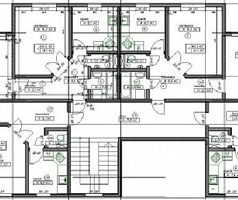 Проект  Дом на 8 квартир , 556 м2