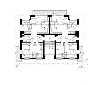 Проект  Дом у бульвара 6, 594.6 м2