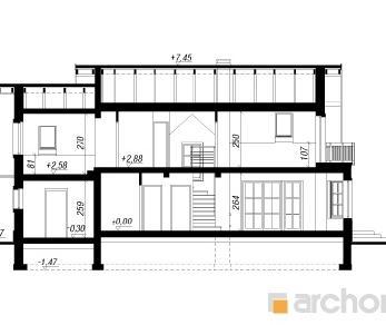 Проект  Дом под золотым дождем, 142.6 м2