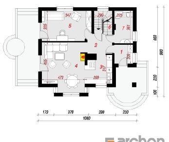 Проект  Дом в мандаринках (П), 199.64 м2