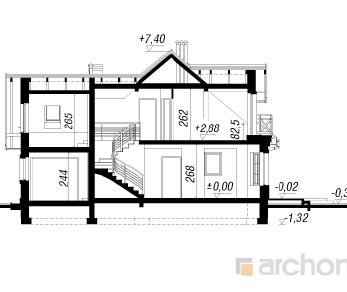 Проект  Дом в рододендронах 2, 131.9 м2