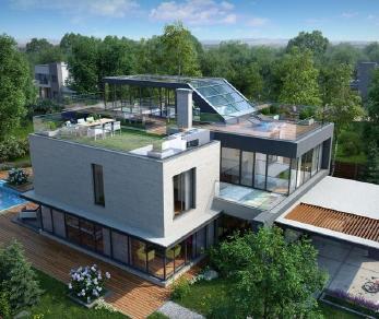 Проект дома Проект x8, 299.85 м2
